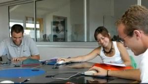 Etudiants à l'IAE de Rennes.