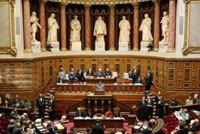 L'hémicycle du Sénat au Palais du Luxembourg.
