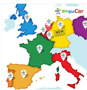 Covoiturage : BlaBlaCar se déploie en Allemagne