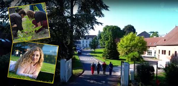 Image de fond : le lycée du Paraclet, près d'Amiens (capture de vidéo).