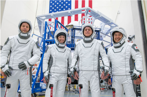 L'équipe de Crew2 à l'entrainement en Californie © SpaceX