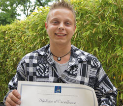 Damien, diplômé du CAP et du BP couvreur