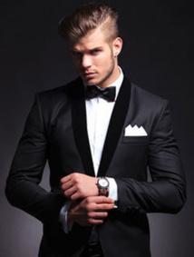 Largeur d'un pouce entre la veste et la chemise
