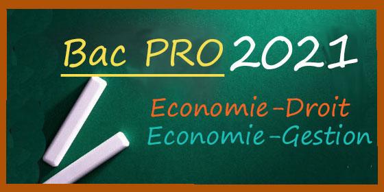 Bac Pro 2021 : les sujets et corrigés d'Economie-Droit, et Economie-Gestion