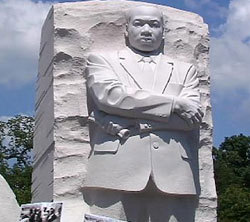 Le mémorial Martin Luther King.