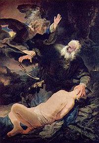 Le Sacrifice d'Isaac. Rembrandt (1634)