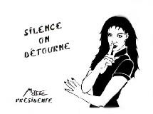 L'une des affiches de Miss-Tik, artiste de rue