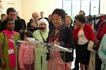Sakina M'sa inaugure l'expo
