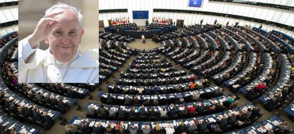 Le pape François devant le Parlement européen, le 25 novembre 2014. (Photos : Osservatore Romano)