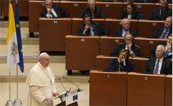 Le pape à Strasbourg : fonder l'Europe sur l'homme et non l'économie