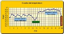 COURBE DE TEMPERATURE OVULATION