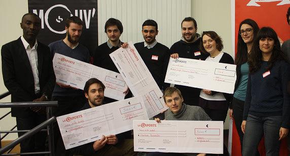 Les lauréats de La Riposte #2 et du Prix Viadeo. Photo : Animafac