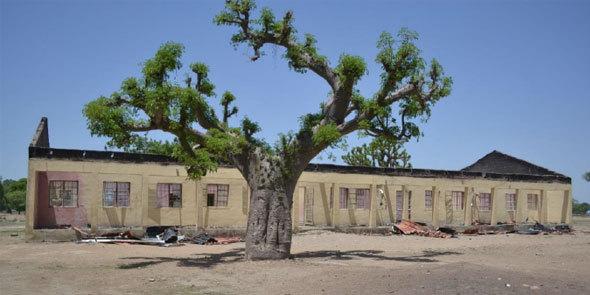 Ruines de l'école secondaire de Chibok où étudiaient les filles enlevées. Photo : Rapport d'Amnesty International