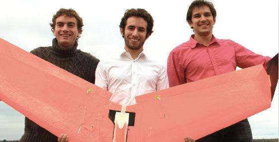 De g. à dr. : Corentin Chéron, Florent Mainfroy et Romain Faoux.