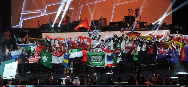 La cérémonie de fermeture à Sao Paulo. Photo : WorldSkills