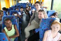 A la Réunion, avec la classe de CM2 de l'école de l'Ancien Théâtre de St-Denis