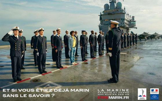 Une affiche de la campagne de recrutement de la Marine nationale.