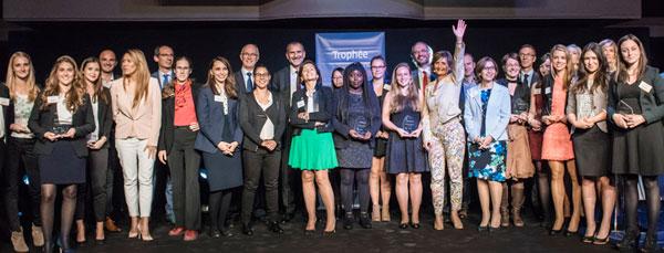 Les lauréates du Trophée Excellencia, lors de la remise des prix le 29 septembre 2015.