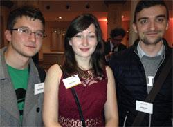 Cécilia et deux autres animateurs de son association.