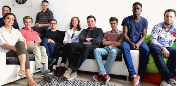 L'équipe de la startup qui a lancé JAM.