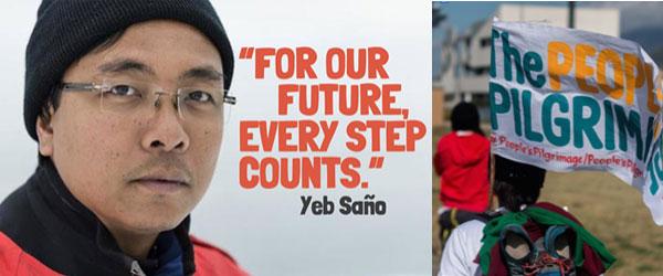 Des pèlerins pour le climat en marche vers Paris pour la COP21