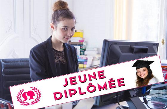 """Tiphaine Haas joue le rôle d'Alice dans la websérie """"Jeune diplômée""""."""