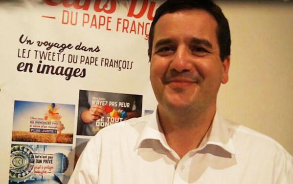 "Olivier Mordefroid, fondateur du projet ""Pontifex en images""."