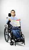 Un routard en fauteuil roulant
