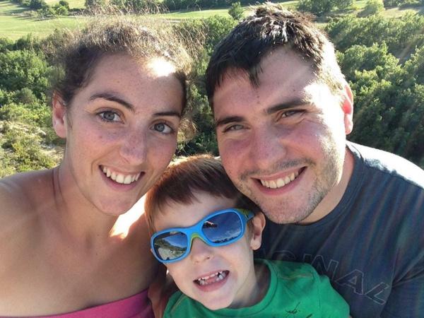 Lucie, son conjoint et leur fils (DR)