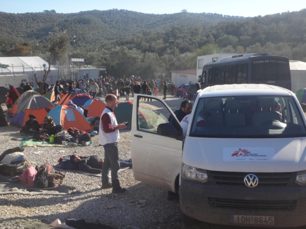 Camp de migrants en Grèce (J-N.D)