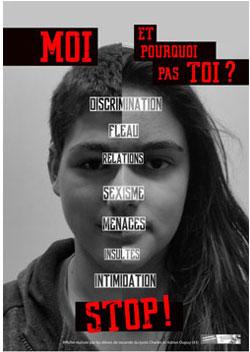 """Prix Affiche lycée - Titre : """"Harcèlement au lycée"""""""