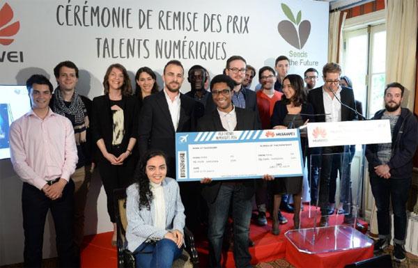 Les lauréats 2016 du concours Huawei Talents numériques.
