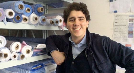 Fabrice de Buhan dans les bureaux de Cotton Society à Shanghai. Photo : reussirmavie.net