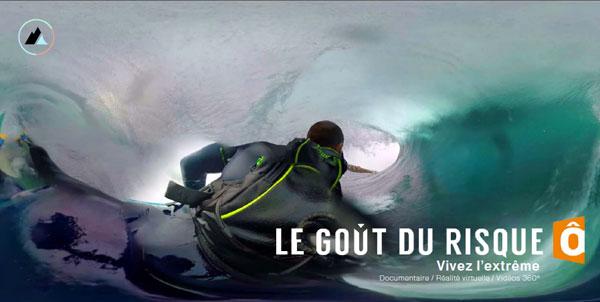 Une appli pour suivre trois sportifs de l'extrême en réalité virtuelle et à 360°