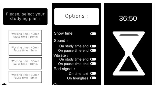 Le visuel de l'application Studying Hourglass sur Google Play.