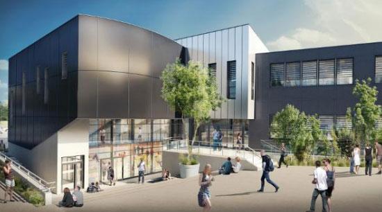Les nouveaux locaux de l'ESITC Caen. Crédit photo : DHA