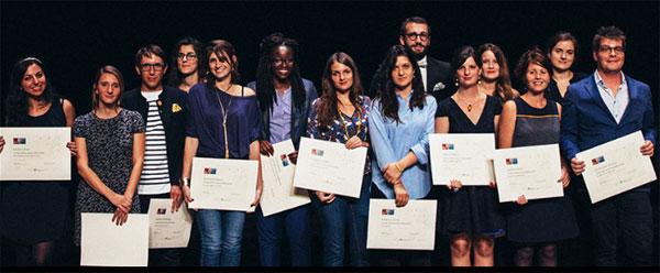 Une partie des lauréats 2016 de la bourse Déclics Jeunes ! © L. Lung / Fondation de France