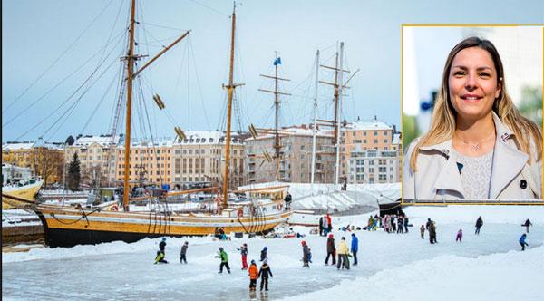 Camille est partie en échange à Helsinki en Finlande.