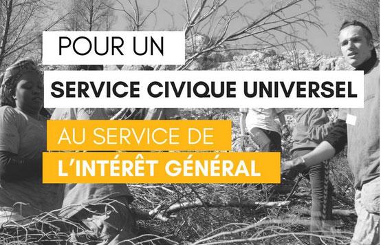 Affiche de la plateforme interassociative sur le service civique.