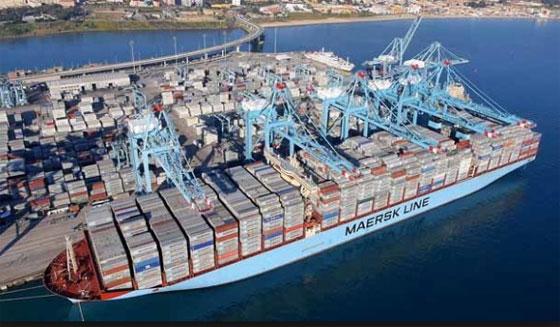 Porte-conteneurs du groupe maritime danois Maersk.