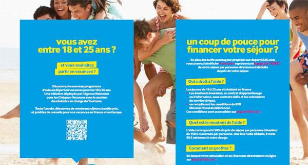 Départ 18:25 : une aide financière pour les vacances des jeunes