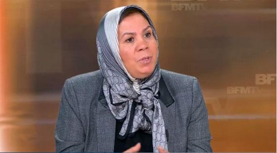 Latifa Ibn Ziaten sur un plateau de BFMTV. (capture écran)