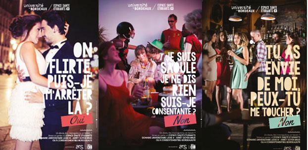 Affiche de la campagne menée à l'université de Bordeaux en 2016.