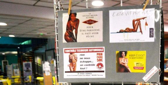 """Un panneau de l'expo """"Hyper sexualisation"""""""