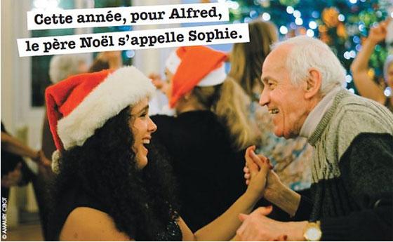 Photo de la Campagne de Noël des Petits Frères des Pauvres.