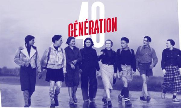 Affiche de l'exposition Génération 40 - Les jeunes dans la guerre © CHRD Lyon
