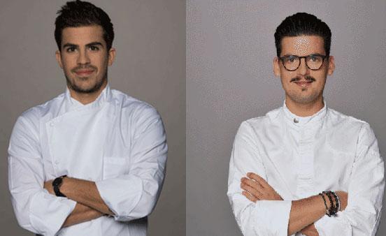 Victor (à g.) et Camille, les deux finalistes du concours Top Chef 2018. © M6