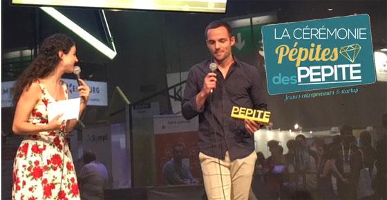 Bastien Paquereau, fondateur de Rhinov, reçoit son prix au salon Viva Tech 2018. © reussirmavie.net