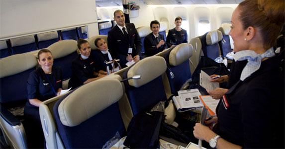 Briefing d'un équipage de navigants avant un vol © AirFrance