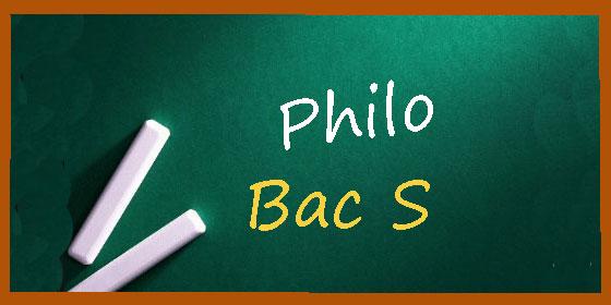 Les sujets et les corrigés de philo du bac S